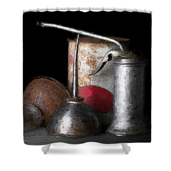 Oil Can Still Life Shower Curtain