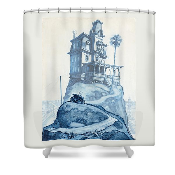 Oil Fields And Orchards Shower Curtain