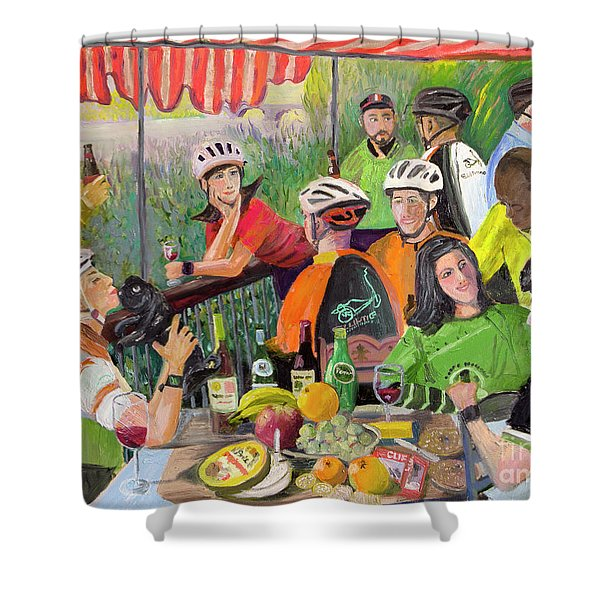 Oil- Luncheon Of The Cycling Party Shower Curtain