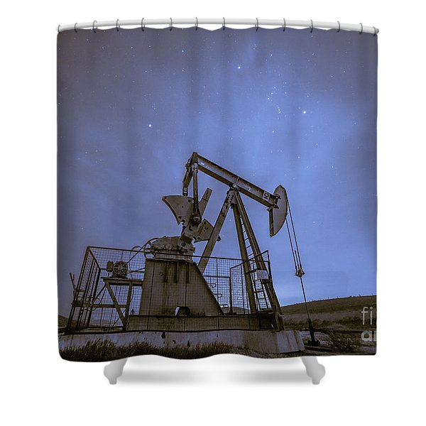 Oil Rig And Stars Shower Curtain