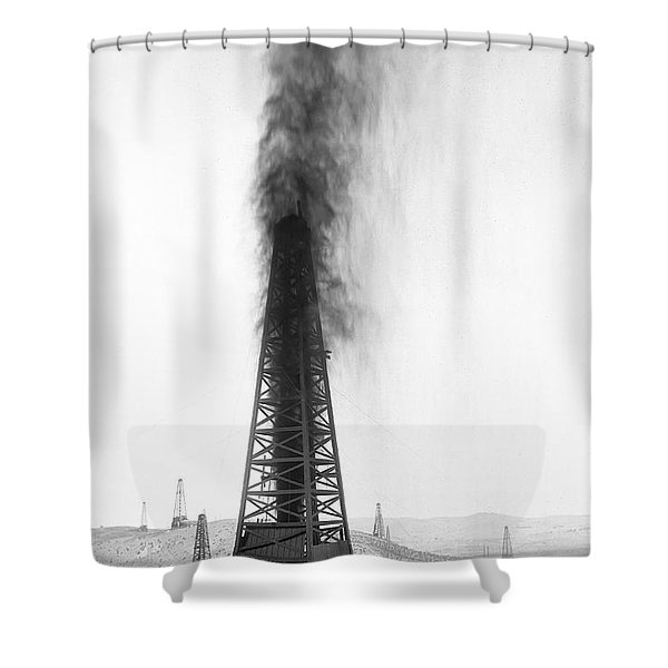 Oil Well Blow Out Gusher C. 1920 Shower Curtain