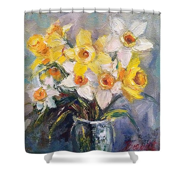 Ok Finished! #springflowers #daffodils Shower Curtain