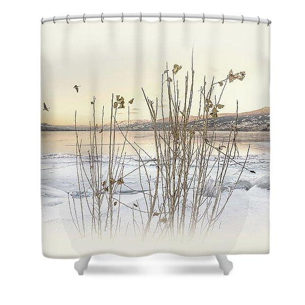 Okanagan Glod Shower Curtain
