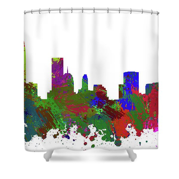 Oklahoma City Skyline Painted Shower Curtain
