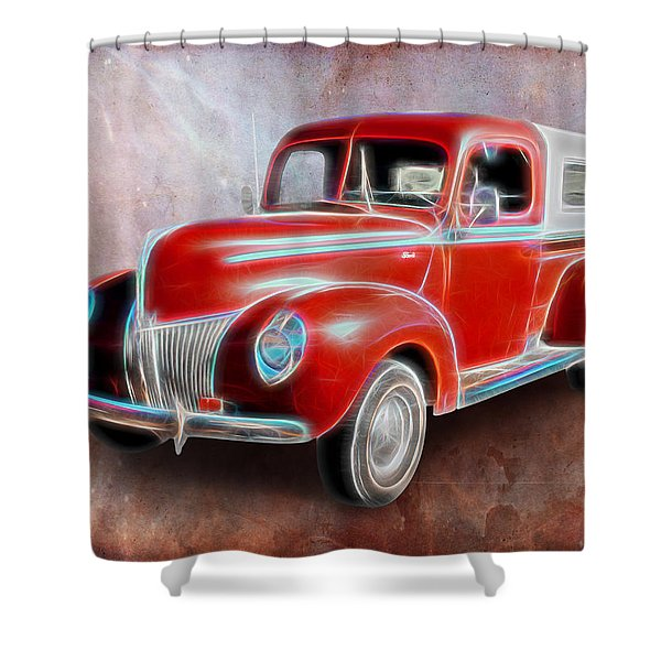 Ol' Skool Camper Shower Curtain