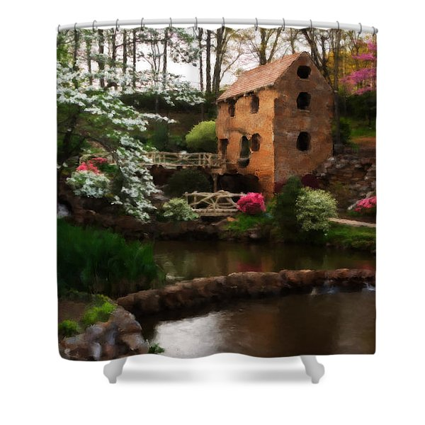 Ol' Water Mill Shower Curtain