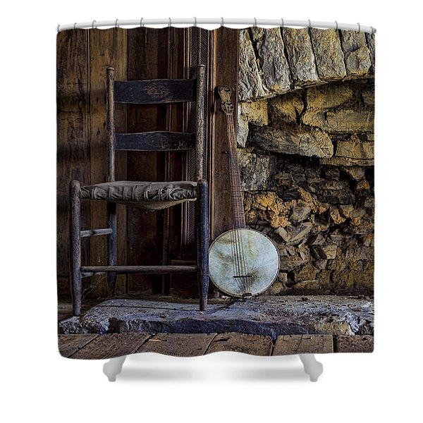 Old Banjo Shower Curtain