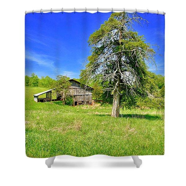 Old Barn, Smith Mountain Lake Shower Curtain
