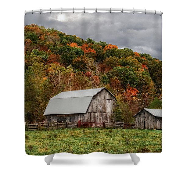 Old Barns Of Beauty In Ohio  Shower Curtain