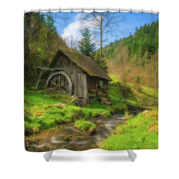 Old Black Forest Mill Shower Curtain