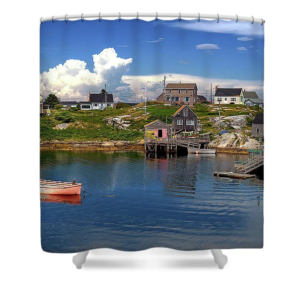 Old Boat At Peggy's Cove Shower Curtain