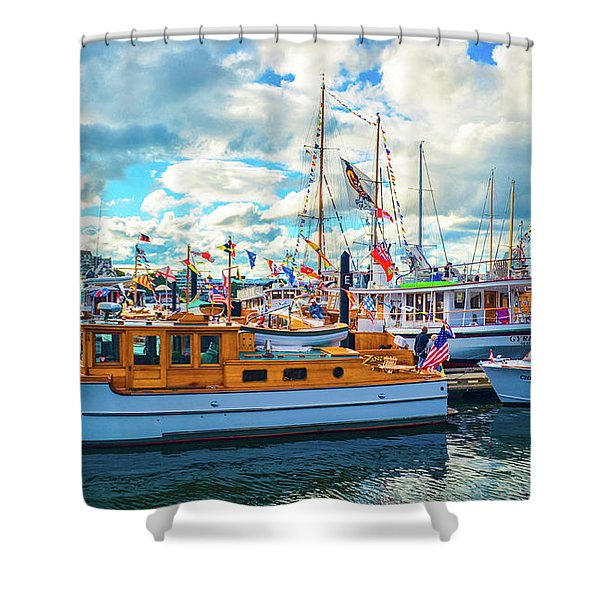 Old Boats Shower Curtain