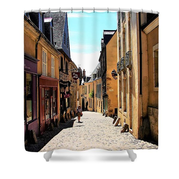 Old Buildings In France Shower Curtain