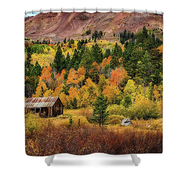 Old Cabin In Hope Valley Shower Curtain