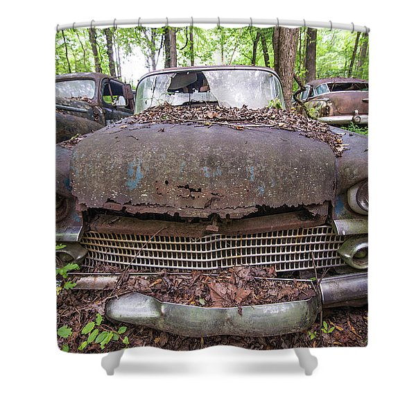 Old Car City In Color Shower Curtain