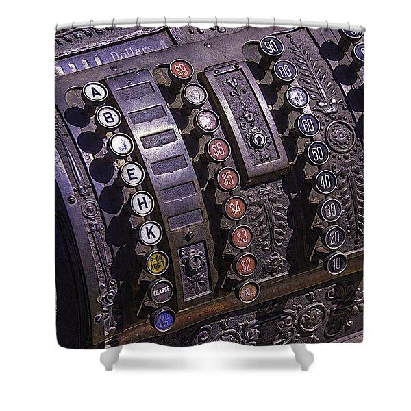 Old Cash Register Shower Curtain