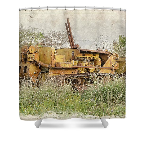 Old Cat Watercolor II Shower Curtain