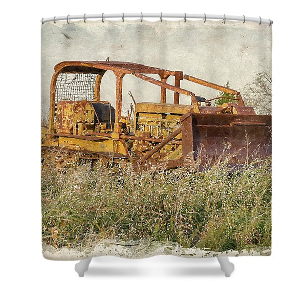 Old Cat Watercolor Shower Curtain