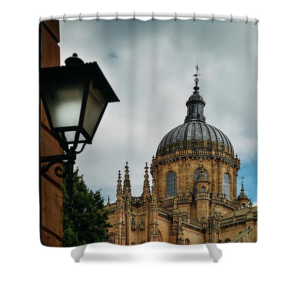 Old Cathedral, Salamanca, Spain  Shower Curtain