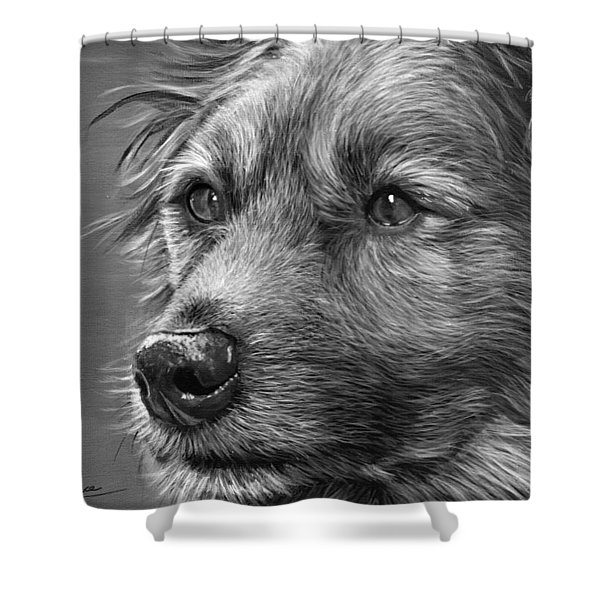 Old Charlie Shower Curtain