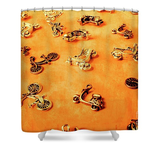 Old Charm Scooters Shower Curtain