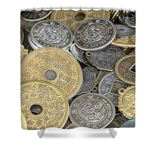 Old Chinese Coins And Money Shower Curtain