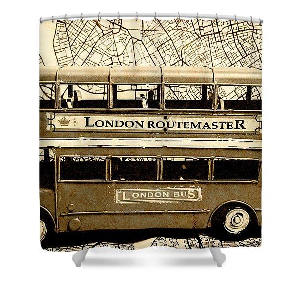Old City Bus Tour Shower Curtain