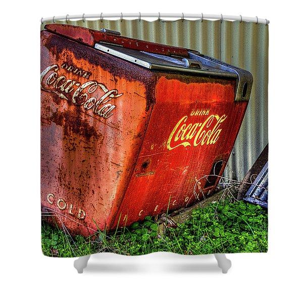 Old Coke Box Shower Curtain