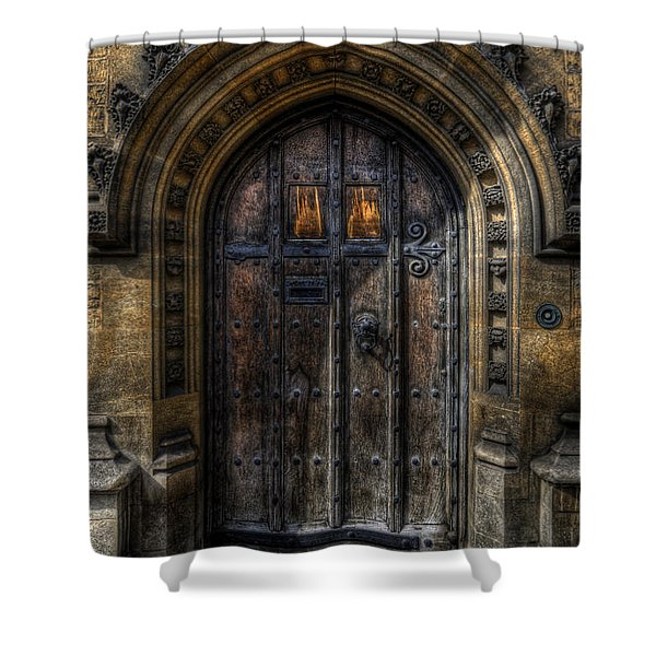 Old College Door - Oxford Shower Curtain