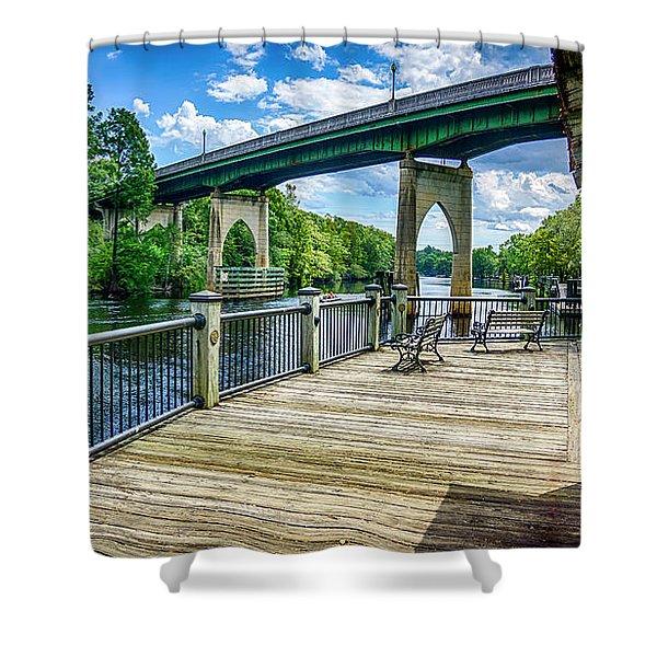Old Conway Bridge Shower Curtain