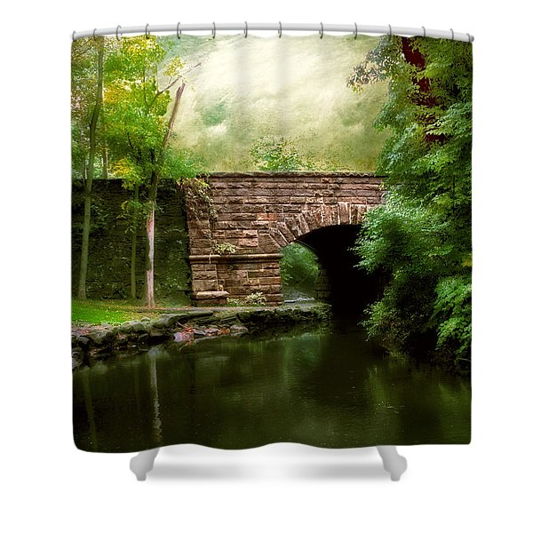 Old Country Bridge Shower Curtain