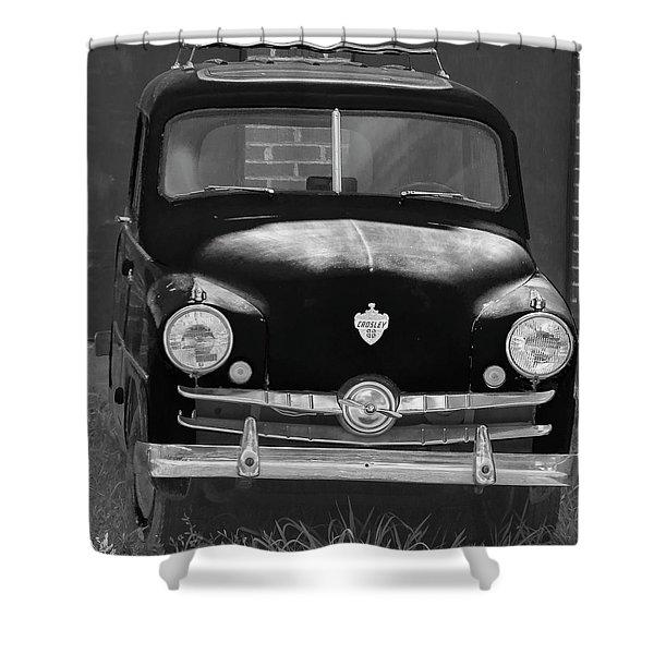 Old Crosley Motor Car Shower Curtain