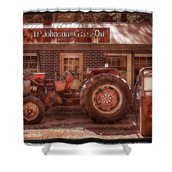 Old Days Vintage Shower Curtain by Debra and Dave Vanderlaan