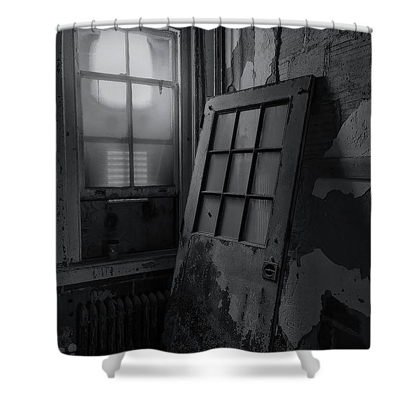 Shower Curtain featuring the photograph Old Door by Tom Singleton