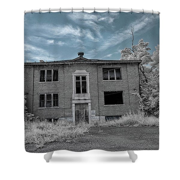 Old Edmonton High School Ir 2 Shower Curtain