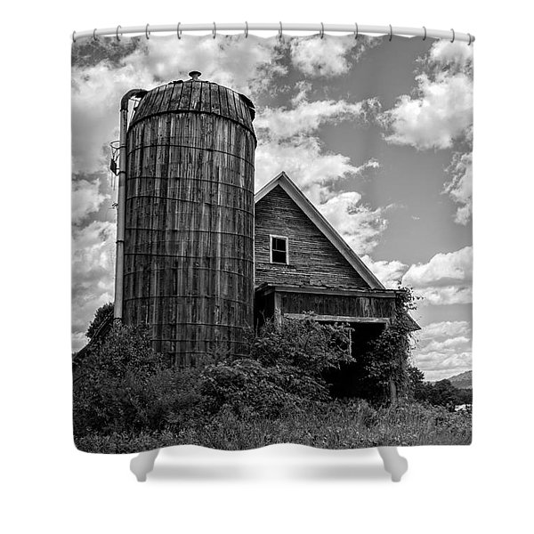 Old Ely Vermont Barn Shower Curtain