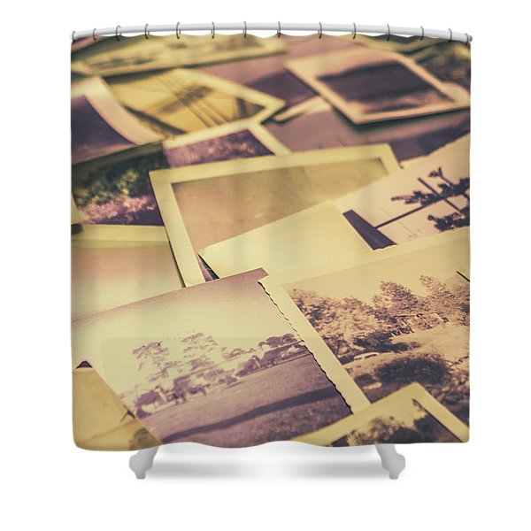 Old Faded Film Photography Shower Curtain