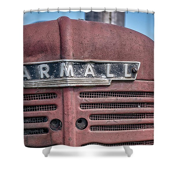Old Farmall Tractor Grill And Nameplate Shower Curtain