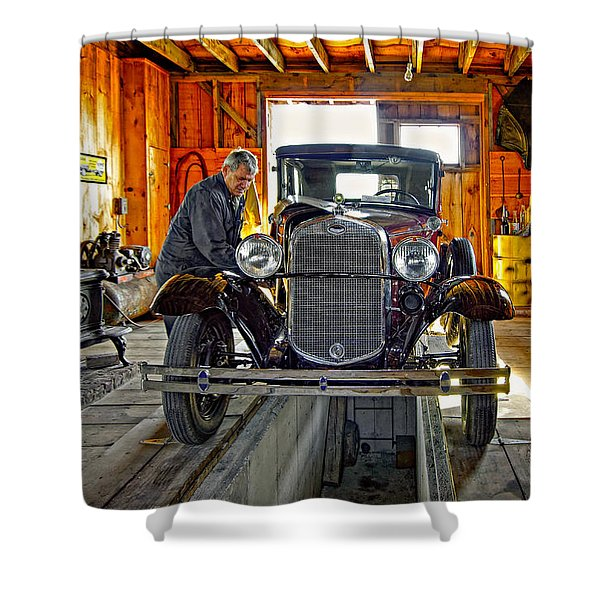 Old Fashioned Tlc Shower Curtain
