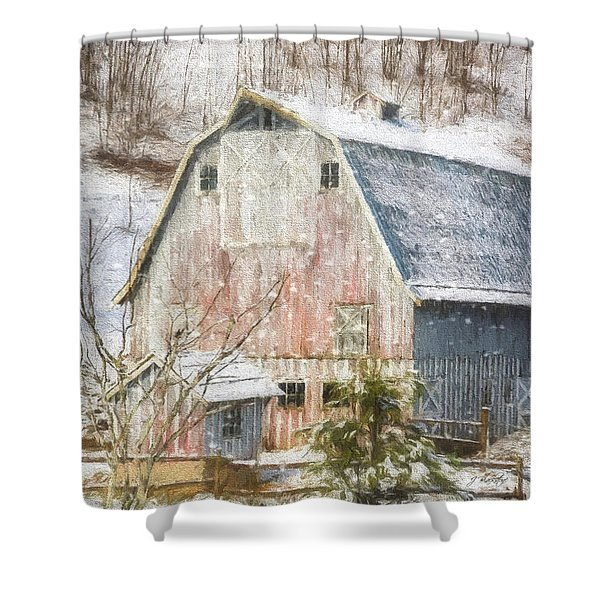 Old Fashioned Values - Country Art Shower Curtain