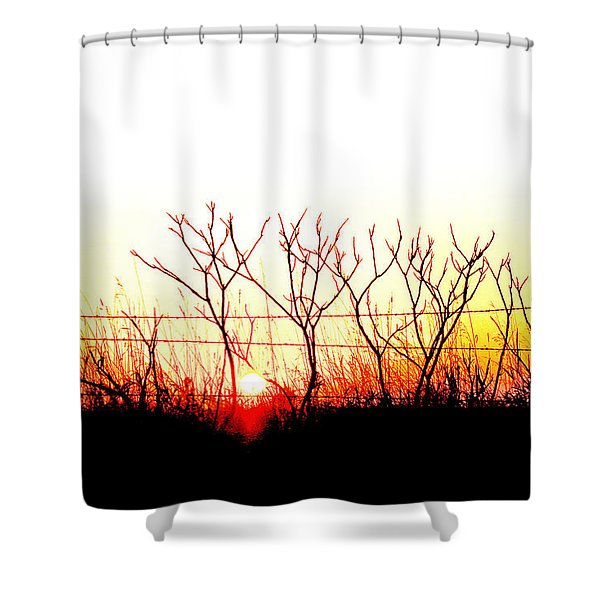 Old Fence Shower Curtain