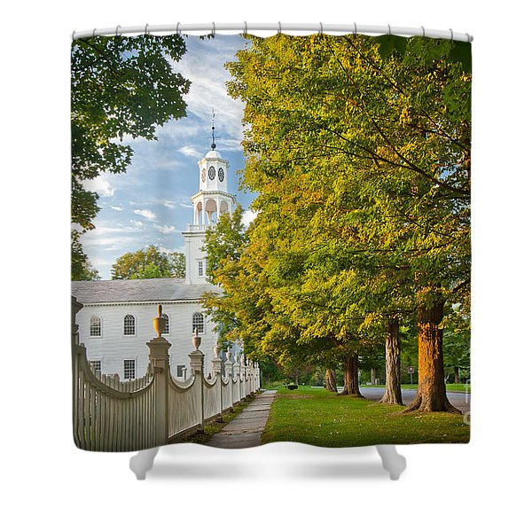 Old First Churchin Bennington Shower Curtain