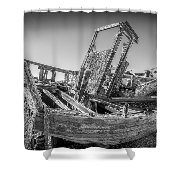 Old Fishing Boat. Shower Curtain