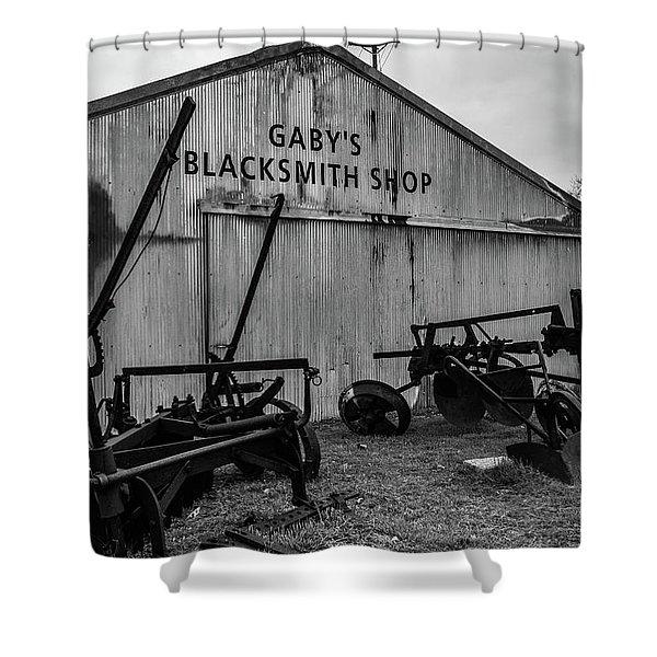 Old Frisco Blacksmith Shop Shower Curtain