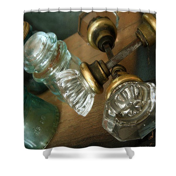 Old Glass Shower Curtain