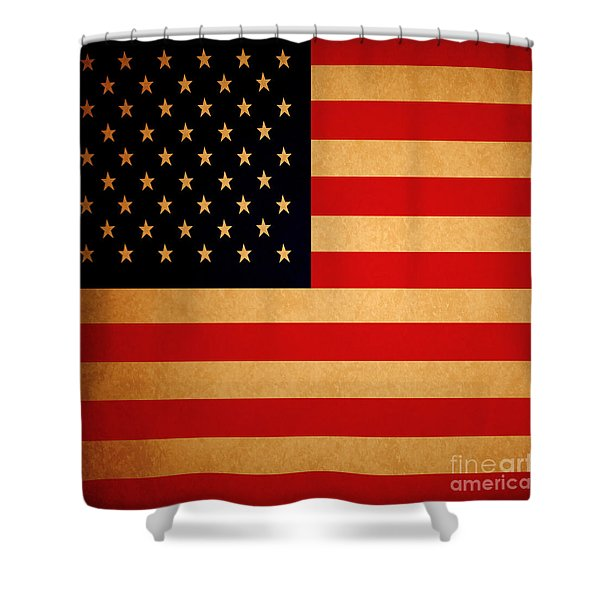 Old Glory . Square Shower Curtain