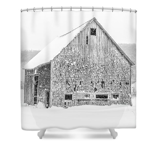 Old Grantham Barns Winter Shower Curtain