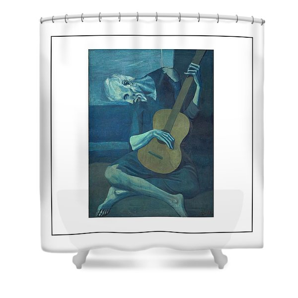 Old Guitarist Shower Curtain