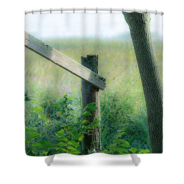 Old Hand Rail Shower Curtain