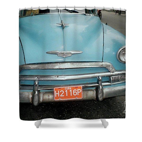 Old Havana Cab Shower Curtain